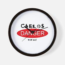 Carlos Danger Txt Me Wall Clock