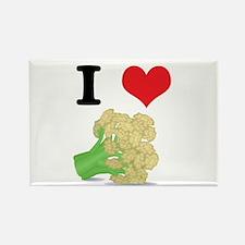 I Heart (Love) Cauliflower Rectangle Magnet