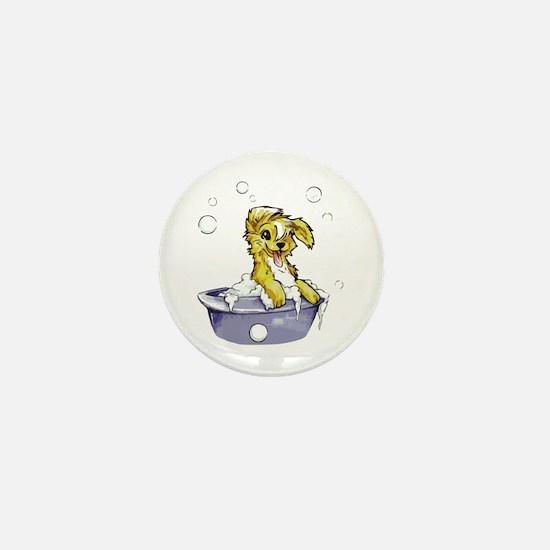 Doggie Dog Wash Mini Button