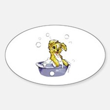 Doggie Dog Wash Sticker (Oval)