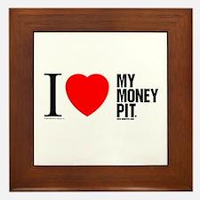 'I (Heart) My Money Pit'  Framed Tile
