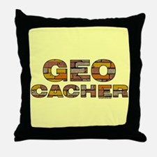 Geocacher Bricks Throw Pillow