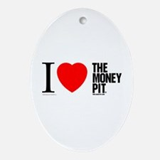 'I (Heart) The Money Pit'  Oval Ornament