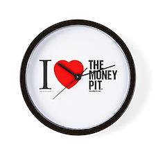 'I (Heart) The Money Pit'  Wall Clock