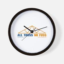 'All Truss, No Fuss'  Wall Clock