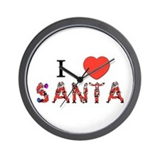 I Love Santa Wall Clock