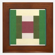 Log Cabin Quilt Square Framed Tile