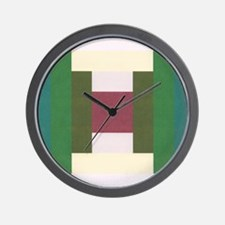 Log Cabin Quilt Square Wall Clock