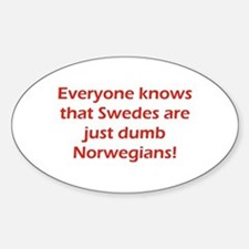 Swedes Oval Decal