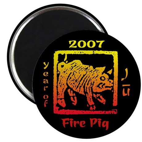"Year of the Fire Pig 2.25"" Magnet (10 pack)"
