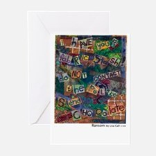 Ransom Note Art Quilt Greeting Cards (Pk of 10
