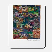 Ransom Note Art Quilt Mousepad