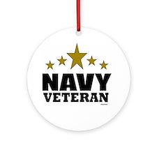 Navy Veteran Ornament (Round)