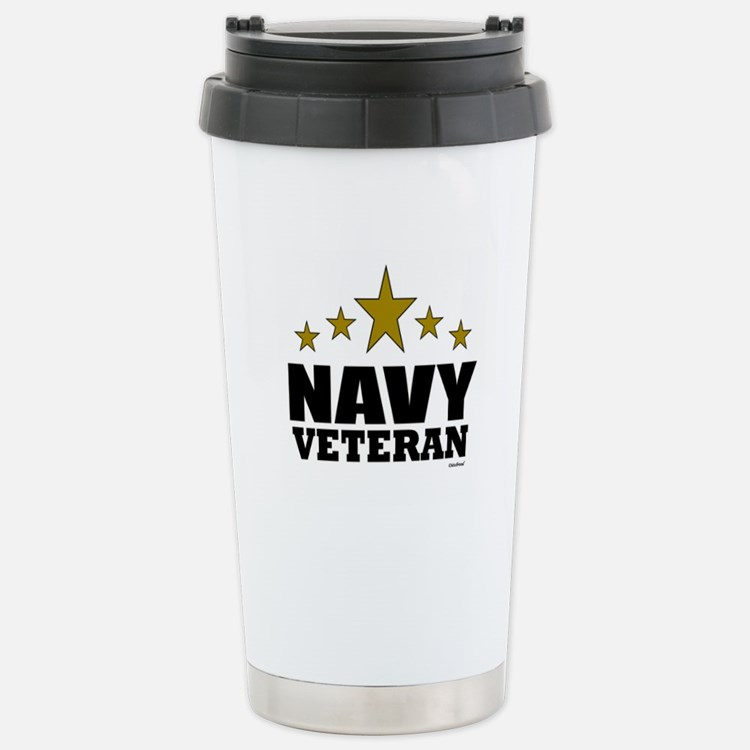 Navy Veteran Stainless Steel Travel Mug