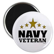 "Navy Veteran 2.25"" Magnet (100 pack)"