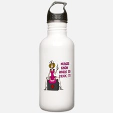 Nurses Know Where to Stick It Water Bottle