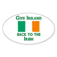 Give Ireland Back Oval Decal
