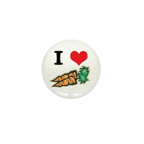 I Heart (Love) Carrots Mini Button