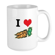 I Heart (Love) Carrots Mug