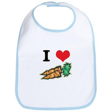 I Heart (Love) Carrots Bib