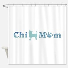 Chi Mom Blue and Teal Shower Curtain