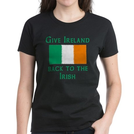 Give Ireland back to the Irish Womens Black Tee