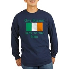 Give Ireland Back to the Irish Long Sleeve Blue