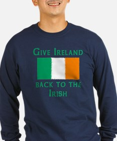 Give Ireland Back to the Irish Long Sleeve Blue