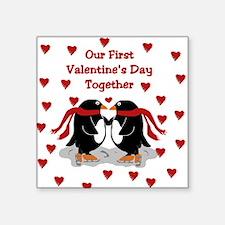 Penguins First Valentine's Day Together Sticker