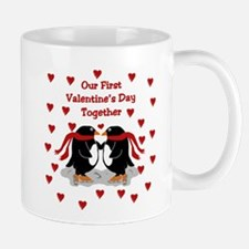 Penguins First Valentine's Day Together Mug