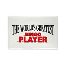 """The World's Greatest Bingo Player"" Rectangle Magn"