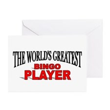 """""""The World's Greatest Bingo Player"""" Greeting Cards"""