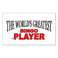 """The World's Greatest Bingo Player"" Decal"