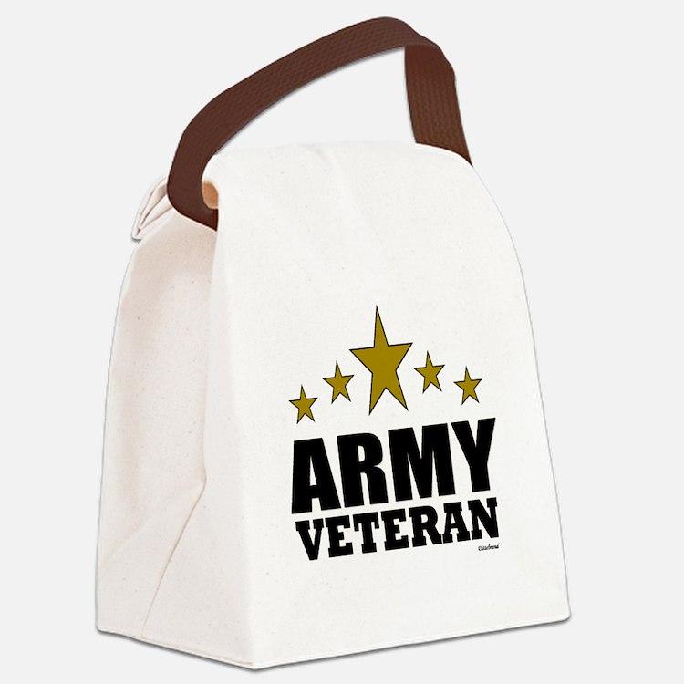 Army Veteran Canvas Lunch Bag