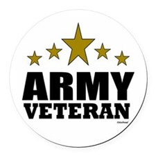 Army Veteran Round Car Magnet