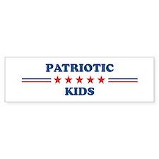 Kids: Patriotic Bumper Bumper Sticker