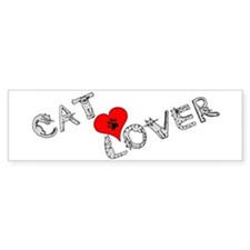 Cat lover saying w/ heart Bumper Bumper Sticker