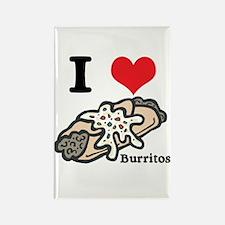 I Heart (Love) Burritos Rectangle Magnet