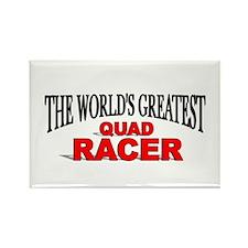 """The World's Greatest Quad Racer"" Rectangle Magnet"