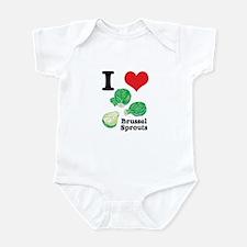 I Heart (Love) Brussel Sprouts Infant Bodysuit
