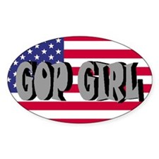 GOP GIRL Oval Decal