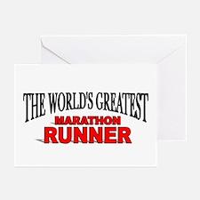 """The World's Greatest Marathon Runner"" Greeting Ca"