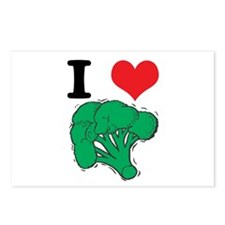 I Love (Heart) Broccoli Postcards (Package of 8)