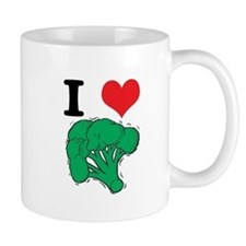 I Love (Heart) Broccoli Coffee Mug