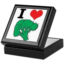 I Love (Heart) Broccoli Keepsake Box