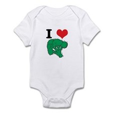 I Love (Heart) Broccoli Infant Bodysuit