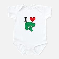 I Love (Heart) Broccoli Infant Bodysuit