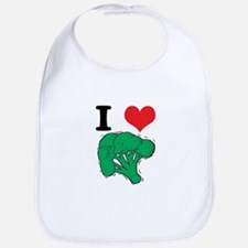 I Love (Heart) Broccoli Bib