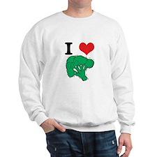 I Love (Heart) Broccoli Sweatshirt