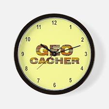 Geocacher Bricks Wall Clock